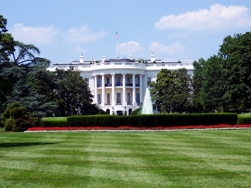 file photo of the White House in Washington DC from Pennsylvania Avenue
